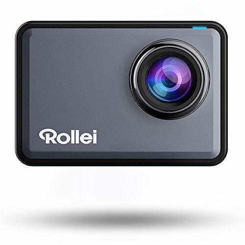 Rollei Actioncam 560 Touch, 4K, WiFi, wasserdicht 4k, 60 FPS, Touchscreen, Unterwasser-Filter, 160° Super-Weitwinkel-Objektiv + Zubehör