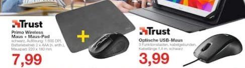[Jawoll Offline] Trust Primo Maus+Mauspad für 7,99€/ Primo Maus für 3,99