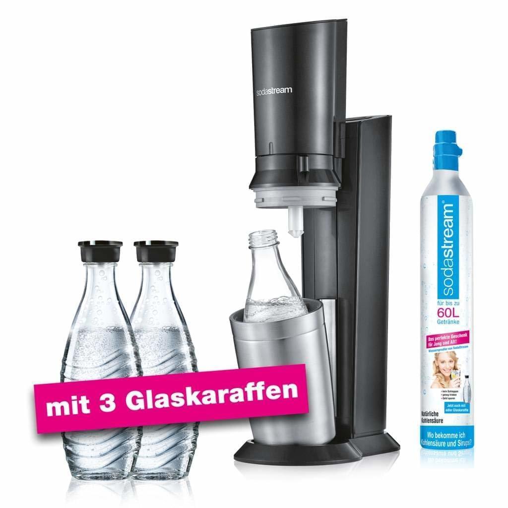 [Real] SodaStream Crystal 2.0 7 Aktionspack Wassersprudler, Titan mit 3 Karaffen für 99,-€ Versandkostenfrei