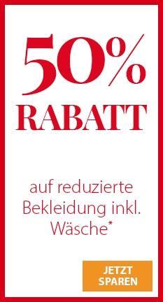 NKD Mega Sale 50% Sofort-Rabatt [Sammeldeal] Online und Offline