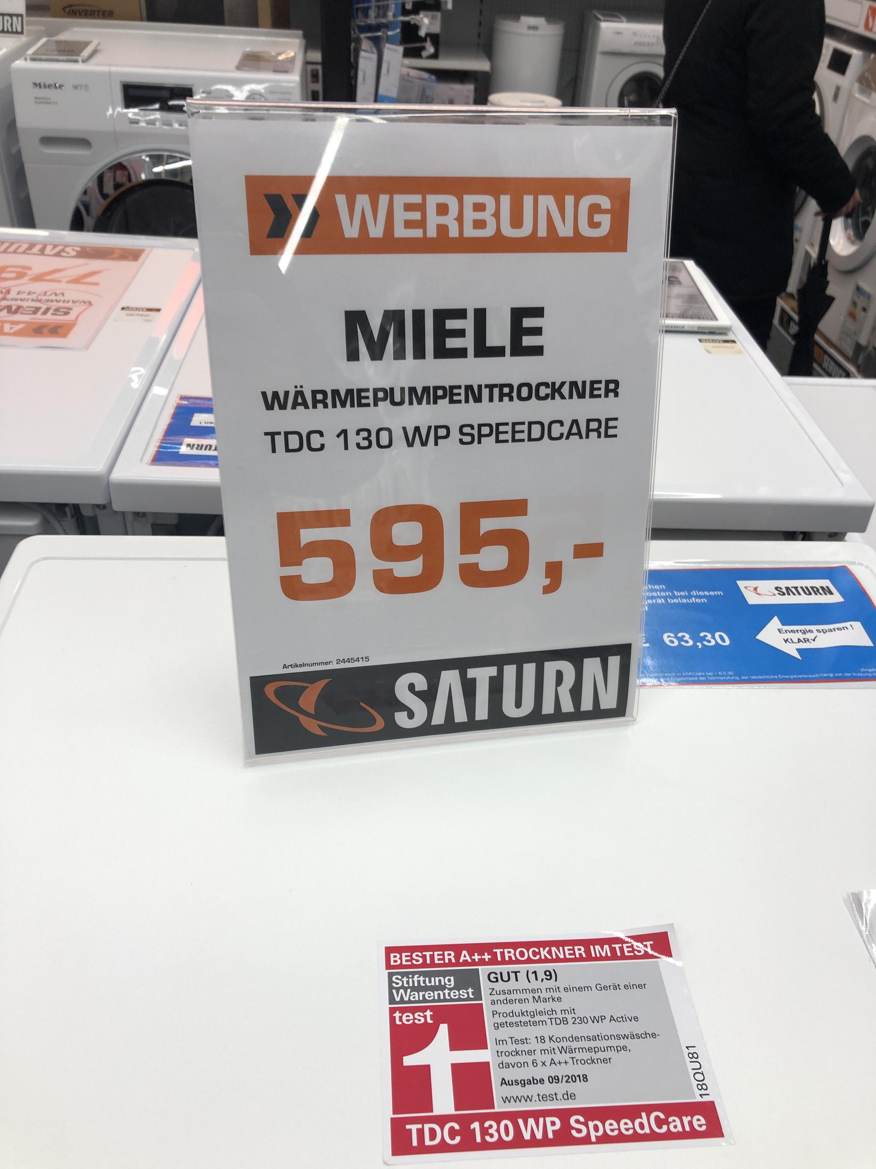 Saturn Hannover Miele TDC 130 WP Trockner Bestpreis