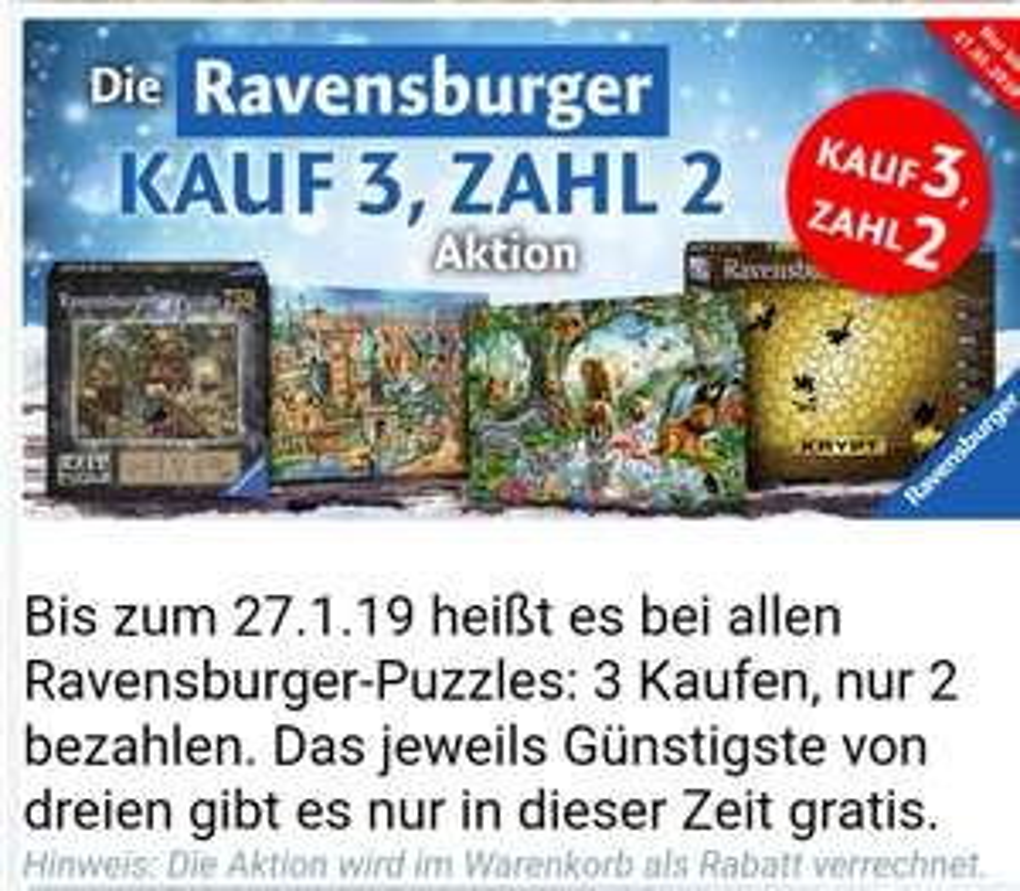 Ravensburger Puzzle 3 für 2