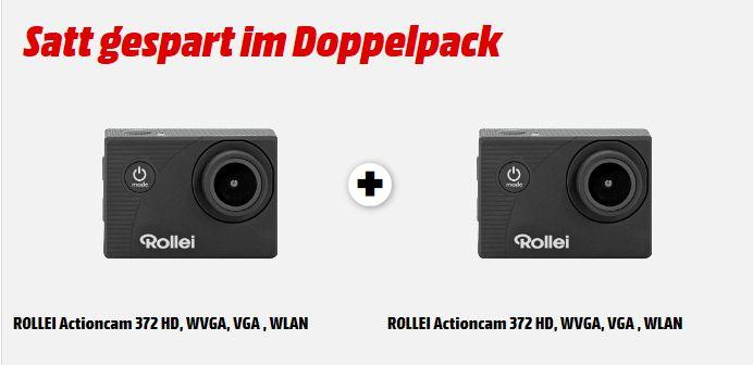 [Mediamarkt] 2 x Rollei Actioncam 372 - Action-Camcorder mit Full HD Video Auflösung 1080/30 fps, bis 30 m wasserfest - Schwarz für 33,-€