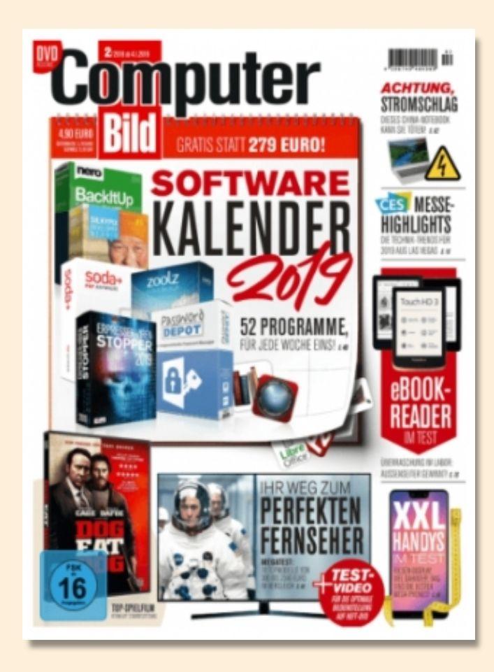 """Jahresabo (26Ausgaben) """"Computer Bild"""" mit DVD für 126,50€ +130€ Amazon-Gutschein als Prämie"""
