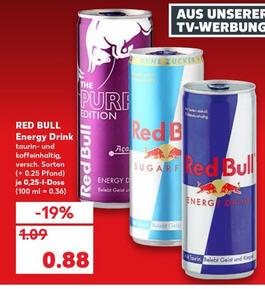 Kaufland - Nur Samstag 19.01 - Red Bull 0,88 Euro