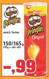 [Thomas Philipps] Pringles versch. Sorten 150/165g. - 0,99 Euro   Barilla 1kg für 1,38