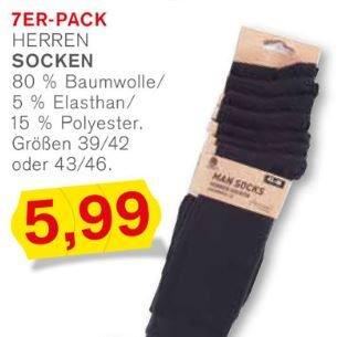 Kodi Herrensocken 7 Paar für 5,99€ 80% Baumwolle