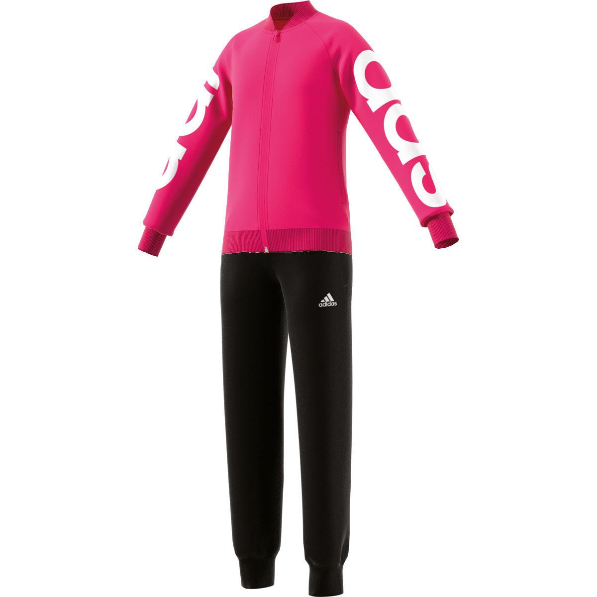 [Karstadt]  adidas Mädchen Trainingsanzug, pink/schwarz oder marine/mint Gr.128