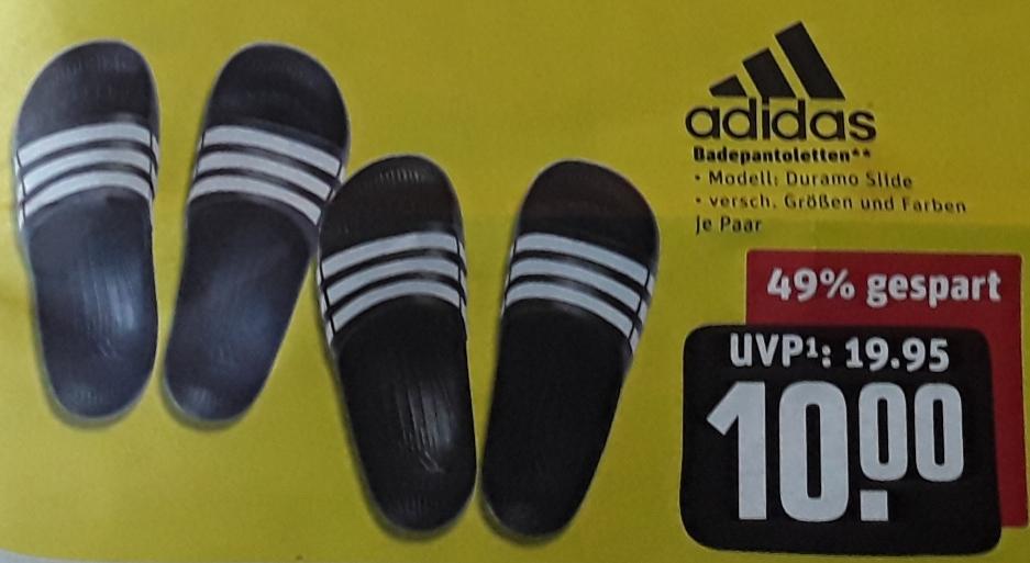 Adidas Duramo Slide Dusch-& Badeschuhe - versch. Größen/Farben - für 10 € @ Rewe-Center