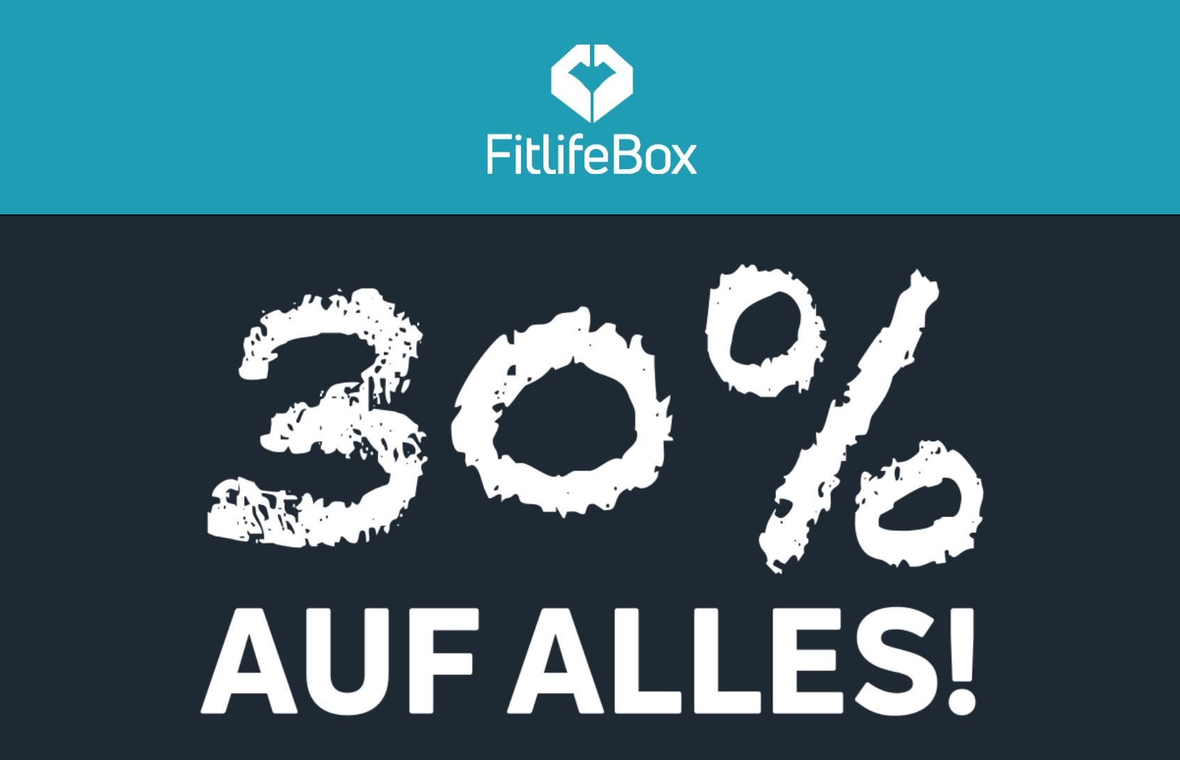 30% auf alles (inkl. Sale) im Fitlife Online Shop (Fitness & Nahrungsergänzungen)