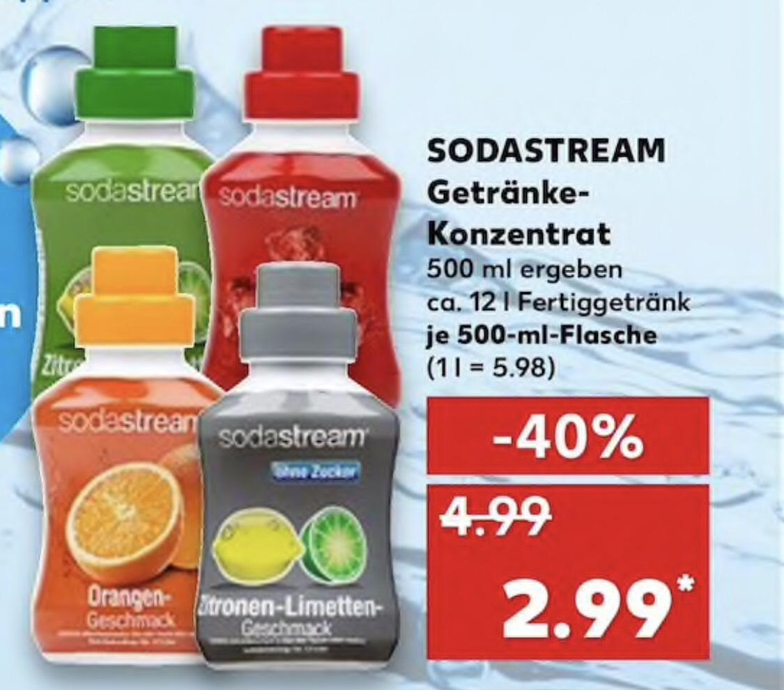 SodaStream Sirup lokal Kaufland