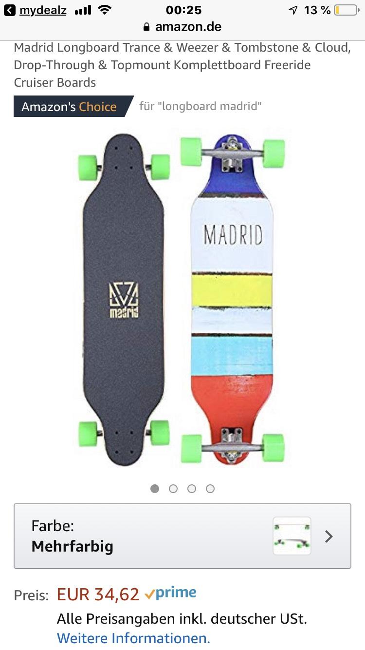 Amazon Prime Madrid Longboard  34,90 EURO VGP 90,-