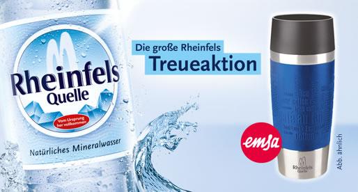 [ Ruhrgebiet ] 10 Kästen Rheinfels Quelle von 17.01 - 19.01. bei netto kaufen und EMSA 0,36l Isolierbecher erhalten
