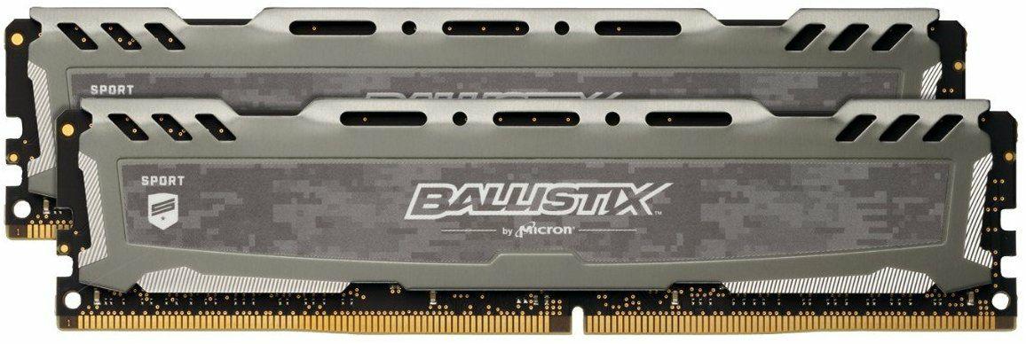 Crucial Ballistix Sport LT DDR4DIMM - 8GB (2×4GB), 2400MHz, CL16 (Amazon.co.uk)