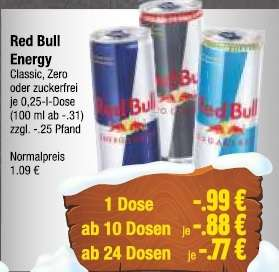 [Lokal EDEKA Bad Bramstedt] Red Bull Energy Drink 24x 250ml 18,48€ / 0,77€ pro Dose