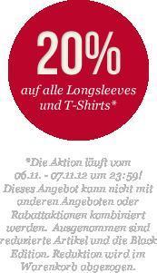 Mustang Onlineshop - 20% Auf alle T-Shirts und Longsleeves (nur heute) evtl. + 15% extra Rabatt