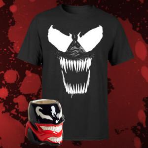 Marvel Villainous Venom Bundle T-Shirt + Tasse (Zavvi)