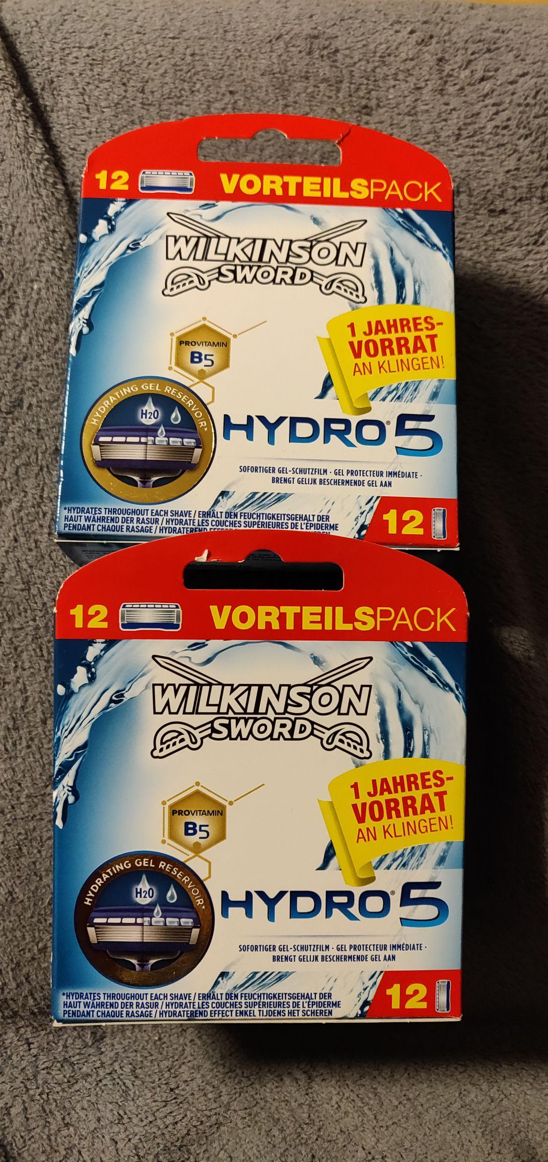 [Rossmann mit App] Wilkinson Sword Hydro5 24 Klingen (1,39€/Stk.)