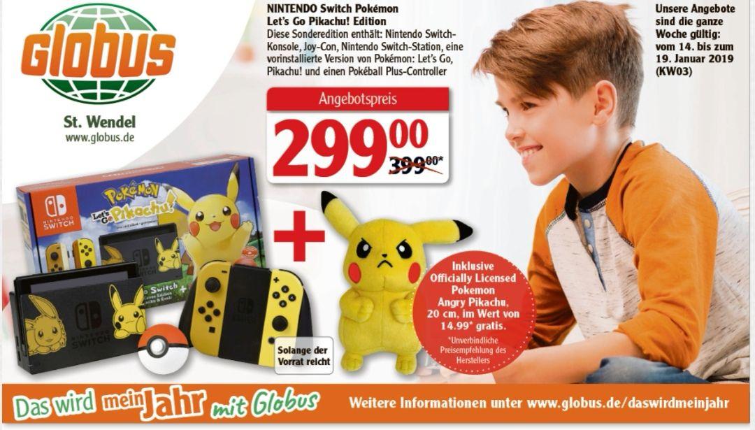 [Globus Deutschlandweit] Nintendo Switch Let's Go Pikachu Bundle
