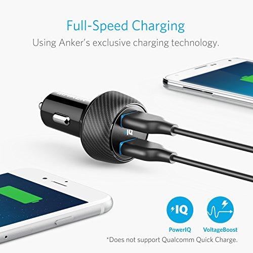 [Amazon Prime] Anker PowerDrive 2 Elite 24W 2 Port Kfz Ladegerät mit POWER IQ