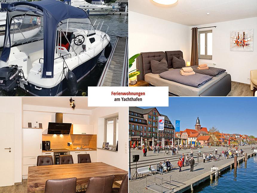 7 ÜN in Ferienwohnung direkt am Hafen von Waren (Müritz) inkl. Boot für 350€ p.P.