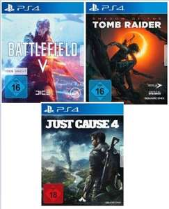 [Saturn] Battlefield 5 (PS4/XB1] + Shadow of the Tomb Raider (PS4/XB1] + Just Cause 4 (PS4/XB1] für 79,-€ bei Abholung