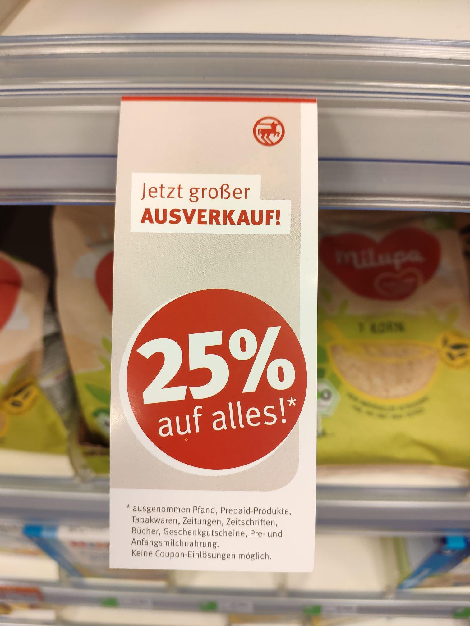 Lokal - Rossmann Gifhorn - Ausverkauf - 25% auf alles