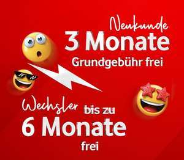 Vodafone GigaKombi-Vorteil mit GigaWechselbonus (3 bis 6 Monate Grundgebühr frei) | z.B. mit P20 Pro für 4,95€ oder iPhone XR für 119,95€