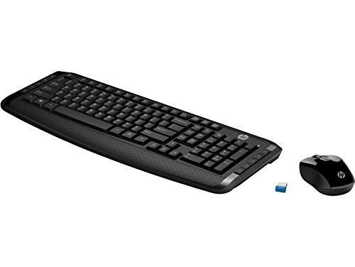 Wireless Tastatur und Maus von HP (2,4-GHz-Wireless-Verbindung, 10 Hotkeys, Maus mit 1.600 dpi, AES-Technologie) [Amazon]