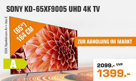 "[Saturn: Abholung im Markt] SONY KD-65XF9005 - 65"" 4K UHD Smart TV (VA, Direct LED, 120 Hz, FALD, 500cd/m², Android TV)"