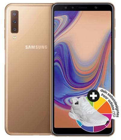 Samsung Galaxy A7 (64 GB) Dual-Sim + 120€ Adidas Gutschein + Blau Allnet L (3GB LTE) für 14,99€ / Monat