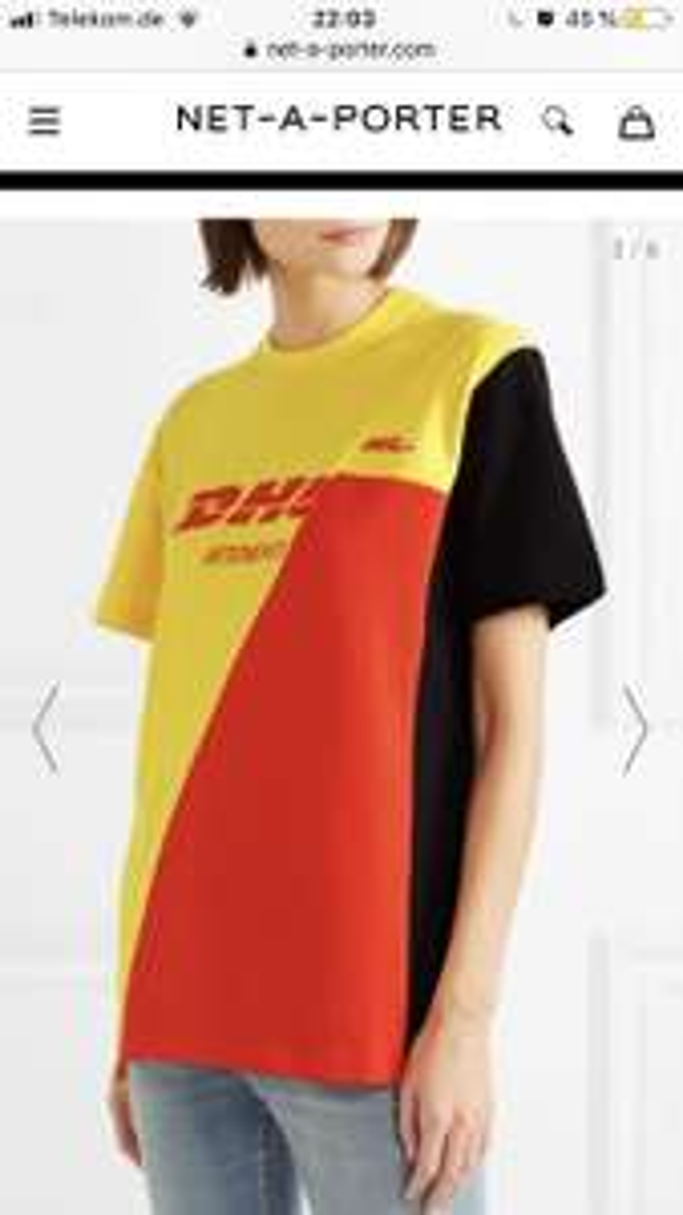 VETEMENTS Bedrucktes T-Shirt aus Baumwoll-Piqué