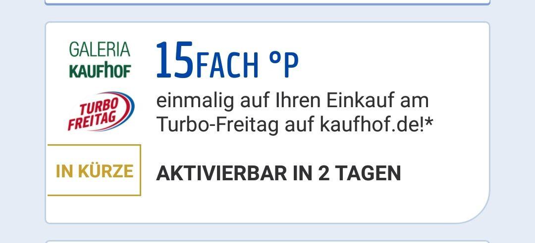 [Payback] 15fach Punkte +10%/15%Sovendus  Coupon  auf Online Einkäufe bei Galeria Kaufhof nur am 18.01