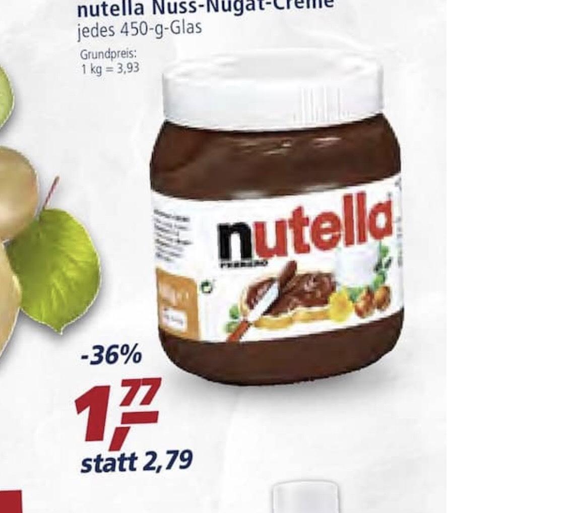 Real Nutella 450 Gramm für 1,77€ (1KG/3,93€)