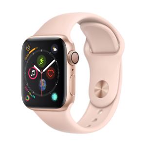 Apple Watch Series 4 GPS 40mm Gold mit Sport Band für 399€ (statt 419€)