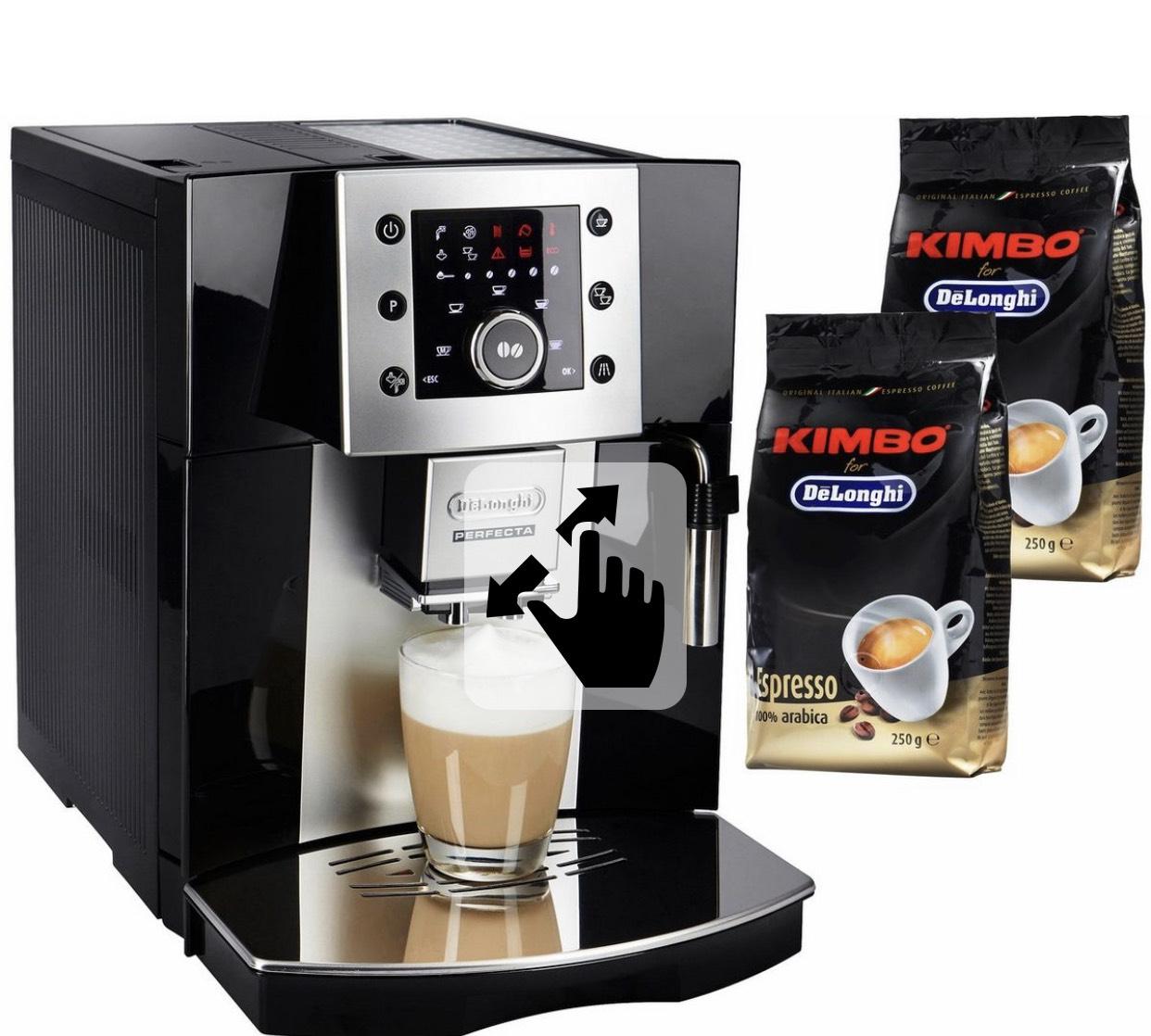 [Otto] De'Longhi Perfecta ESAM 5400 B schwarz  + 2 Pakete KIMBO Kaffeebohnen