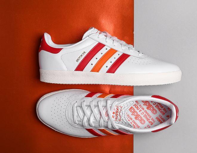 adidas Originals Moskva 350 Sneaker Unisex CQ2778 aus Leder mit Füllartikel z.B. Mütze