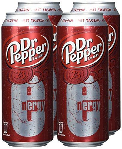 Dr. Pepper Energy Cola - 4x500ml Dosen [Amazon Prime oder ab 29 Euro Warenkorb Versand gratis]