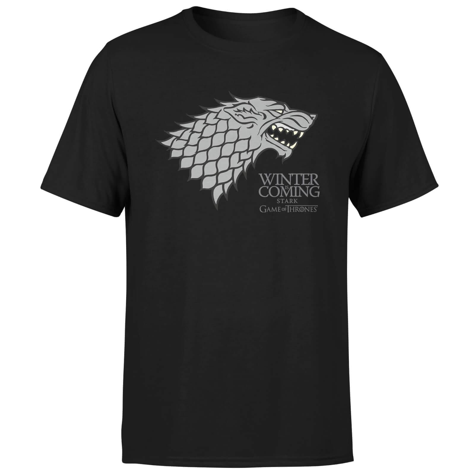 Game of Thrones - Winter is Coming T-Shirt (mit Stark-Logo, 100% Baumwolle)