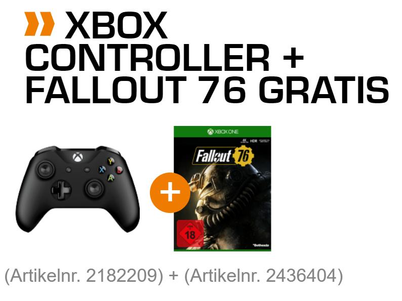 [Saturn.de] Xbox Wireless Controller (schwarz) oder PS4 Dualshock 4 V2 + Fallout 76 für 55 EUR