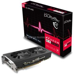 Sapphire Grafikkarte/ GPU Pulse Radeon RX 580 4G, 4096 MB GDDR5 + 2 von 3 Gamekeys: Resident Evil 2, Devil May Cry 5, oder The Division 2