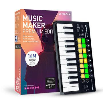 Magix Music Maker 2019 Performer Edition (Premium Edition + Novation Launchkey Mini)