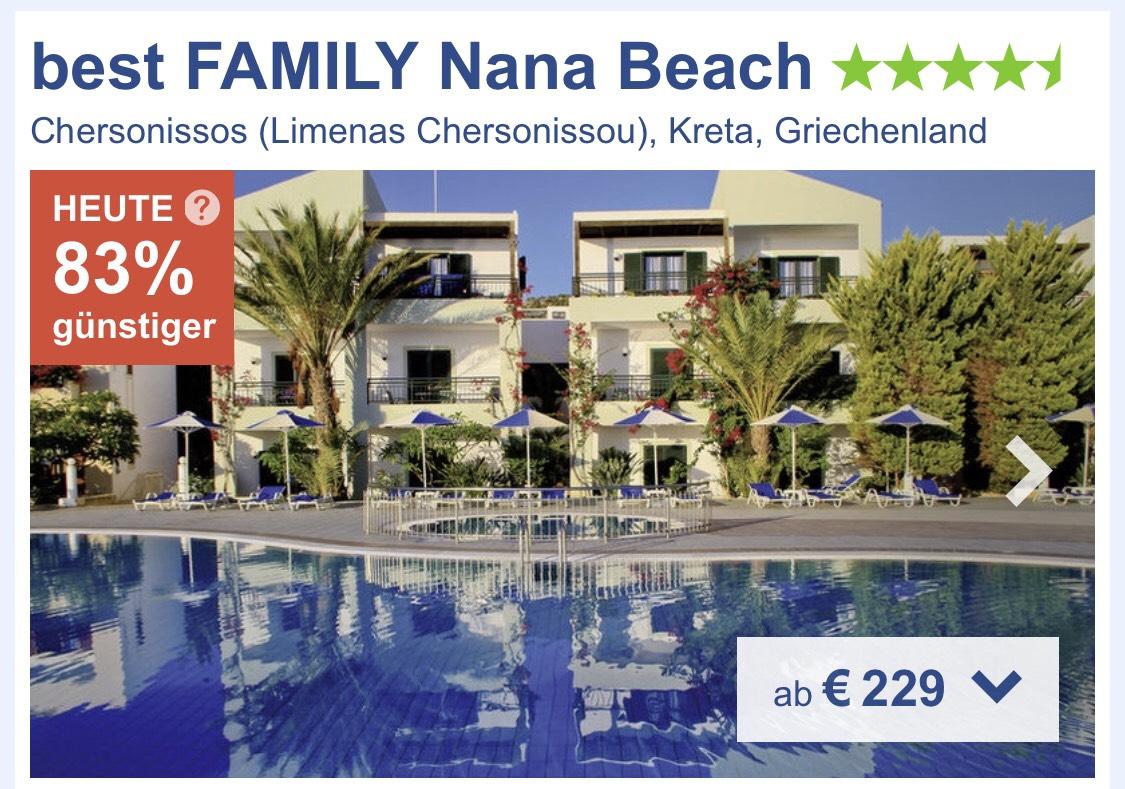 Urlaub in Kreta im Juli für 2 Personen 1 Woche All inklusive inkl. Flug Zug und Transfer