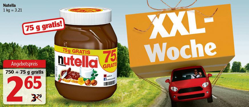 Globus - Lokal  / Nutella 825gr - 2,69 Euro / 1 Kilo = 3,21 Euro