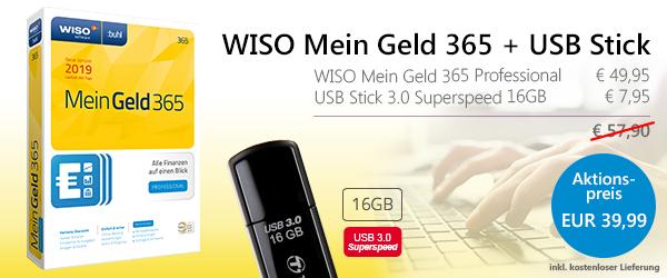 WISO Mein Geld Professional 365 + USB Stick - 39,99 €