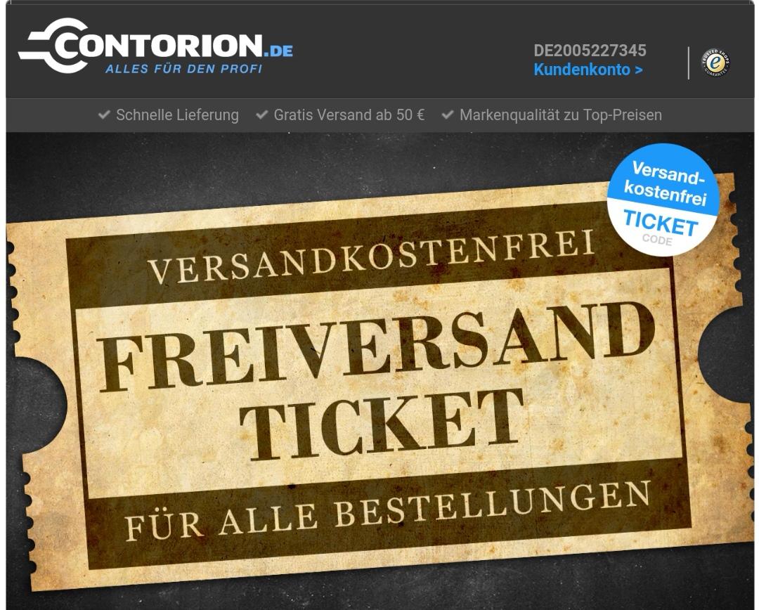 Freiversand bei Contorion.de