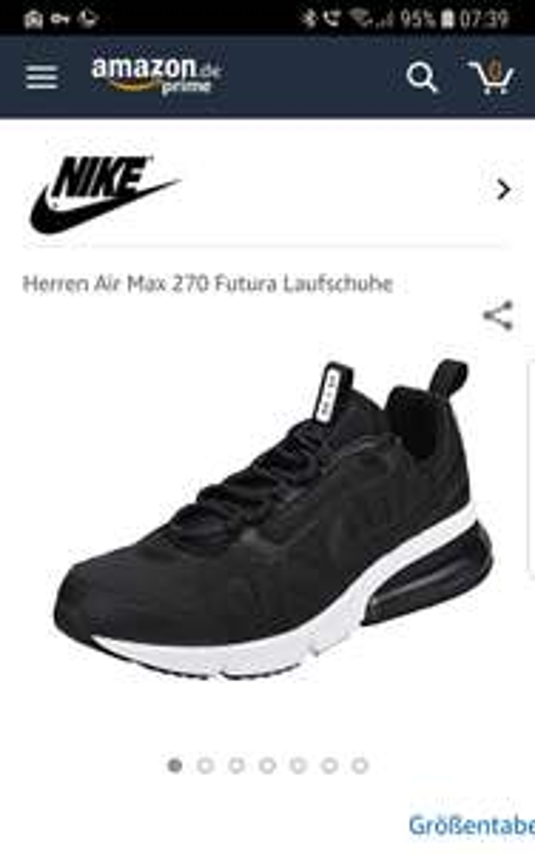 Nike Air max 270 Futura Schwarz bei Amazon