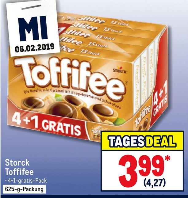 [Metro] Storck Toffifee 4+1 (5 * 125g) für 4,27 € (85 ct. pro Packung) (06.02.)