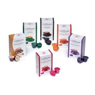 Nespresso kompatible Kaffeekapseln 100 Kapseln von Caffeluxe