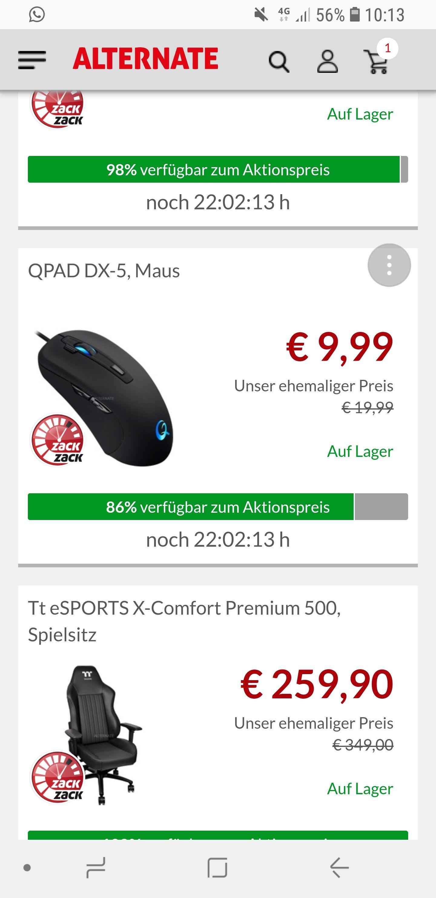 QPAD DX-5 Maus Alternate